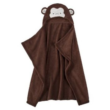 Tiddliwinks Safari Friends Hooded Blanket - Monkey