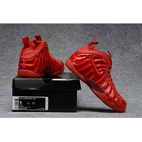 Air Foamposite Pro Red Basketball Shoe Size 40 47