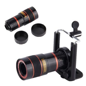Zoom Telescope 8X Zoom Optical Telephoto Telescope Camera Lens Mobile Phone Lens with Universal Holder Monocular Lens