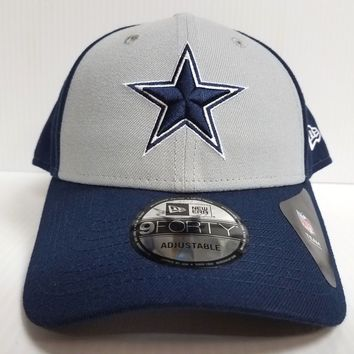 Dallas Cowboys New Era Cap 9Forty Adjustable Hook Loop & League Blocked Hat NFL