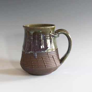unique coffee mug, 12 oz, handmade ceramic cup, handthrown mug, ceramic stoneware, pottery mug, unique coffee mug, ceramics and pottery