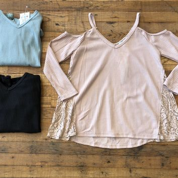 SALE! Hilde Top in Blue, Black, and Pink