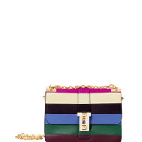 Valentino Rainbow Striped Flap Shoulder Bag - Multi-Color Stripe Bag