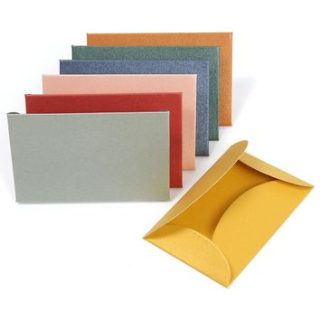 Kicute 50pcs/lot Colorful Small Colored Pearl Blank Mini Paper Envelopes Wedding Invitation Envelope Gilt Envelope DIY Crafts