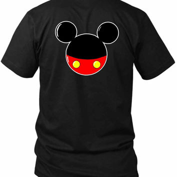 Mickey Mouse 2 Sided Black Mens T Shirt