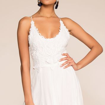 St. Martinique Crochet Romper - White