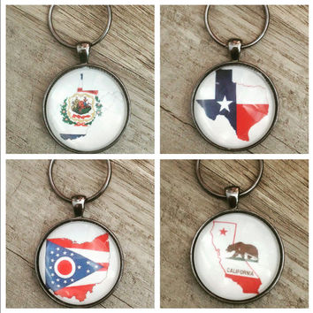 State flag keychain