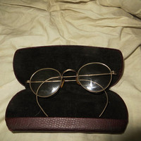 vintage  Marked 12 KT GF Antique gold frame GLASSES