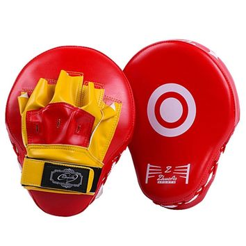 PU Leather Training Equipment Punching Boxing Kicking Pad Punch Mitt Curved Hand Target MMA Boxing Curved Punch