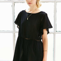 Ecote Circle Trimmed Frock Romper - Urban Outfitters