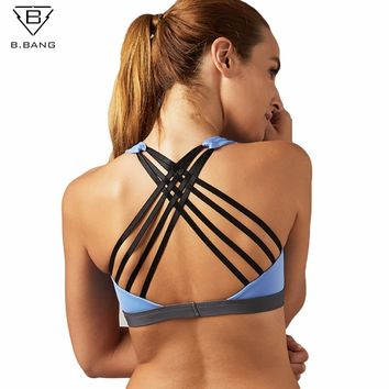 Women'S Sports Bra Yoga Shirt with Padding Push Up Dry Quick Tank Tops For Running Fitness Gym Bras FREE SHIPPING