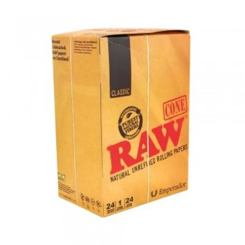 "RAW Pre-Rolled Cones Emperador 7 1/4"" - 24 Count"