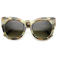 Women's Retro 1960's Mod Oversize Cat Eye Sunglasses 9799