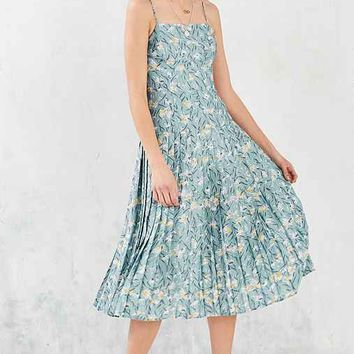 Kimchi Blue Marguerite Pleated Drop-Waist Midi Dress