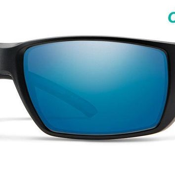 Smith - Transfer XL Matte Black Sunglasses / ChromaPop Polarized Blue Mirror Lenses