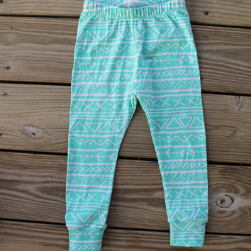 Aqua Tribal Baby Leggings // Baby Legging // Baby Leggings // Baby Clothes // Baby Boy Legging // Baby Girl Legging