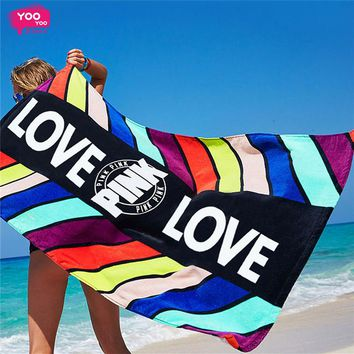 Beach Blanket Victoria Secret Pink Beach Towel Brand Large Beach Towel Cotton Fashihon Towel Women