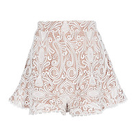 Alexis Barron White Lace Shorts - INTERMIX®