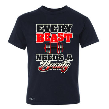 Every Beast Needs A Beauty Valentines Day Youth T-shirt Couple Tee