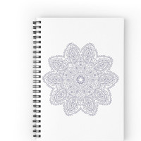 Purple Mandala Spiral Notebook With Lined Paper
