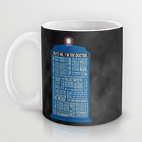 Doctor Who Mug by Luke Eckstein
