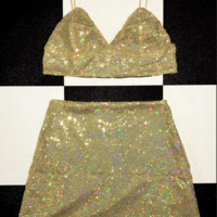 SWEET LORD O'MIGHTY! GLITTORIS BRALET IN GOLD