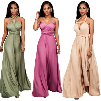 Women evening long dress elegant Formal Maxi dress Multi Way Wrap Convertible Infinity dresses Strapless Plus Size Vintage Dress