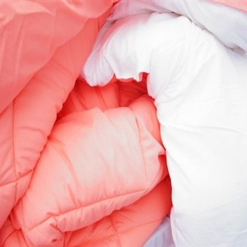 Fusion Coral/White Reversible Twin XL Comforter for College