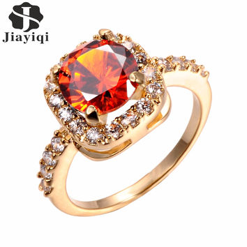6 Color 2017 Big Stone Vintage CZ Diamond Rose Gold Rings for Women Wedding Gengagement Rings Fashion Jewelry Christmas Gift