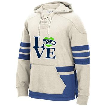 Seattle Winter New Designs Hoodies, Seahawks LOVE Logo Picture Stitched Sweatshirt, Can Custom Any Name/Number Hoodies Pullover