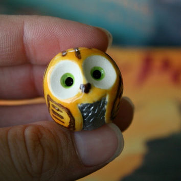Snitch the Clay Quidditch Owl, Harry Potter Inspired Owlery