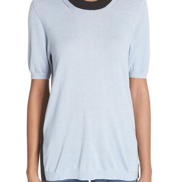 Burberry Malad 42 Silk & Cashmere Tee | Nordstrom