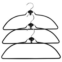 Evelots Swivel Nonslip Rubber Coated Metal Cascading Space Saver Hangers, 3 Pack