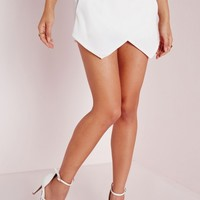 Missguided - Wrap Detail Skort White