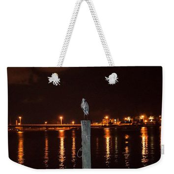 Blue Heron Night - Weekender Tote Bag