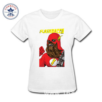 2017 Funny Hip Hop Printed Funny Famous Movies Logo Star Wars chewbacca Cotton funny t shirt women
