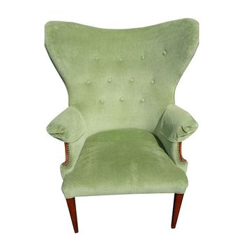 Pre-owned Vintage Butterfly Wingback Chair