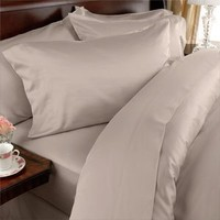 Elegant Comfort 4-Piece 1500 Thread Count Egyptian Quality Bed Sheet Sets with Deep Pockets, California King, Beige