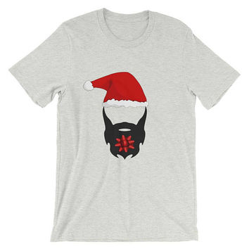 Short-Sleeve Unisex T-Shirt for men and women hipster hippie graphic indie bearded christmas beard lovers lumberjack present no shave novemb