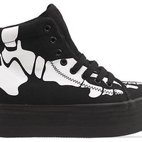 Jeffrey Campbell Homg Skull in Black White at Solestruck.com