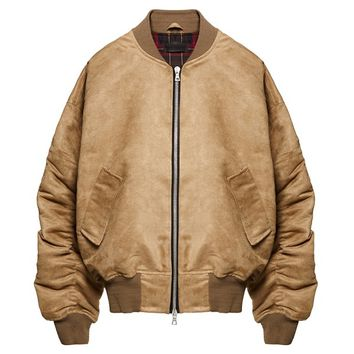 Indie Designs Kanye West Favorite Oversized Suede Bomber Jacket