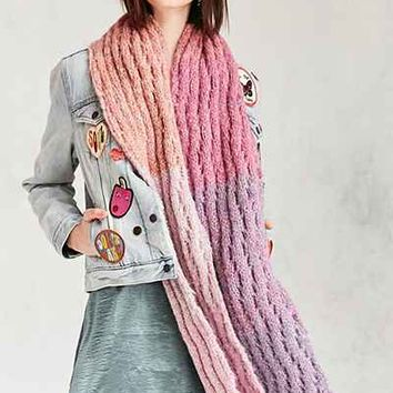 Squiggle Rib Knit Scarf - Urban Outfitters