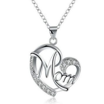 Heart shaped mother love diamonds letters ornaments