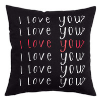 H&M - Canvas Cushion Cover - Black