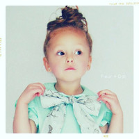 Girl Blouse: Minted Bow Peter Pan Collar Shirt in Mint and Butterfly or Navy and Polka Dots from the Autumn Winter 12 Collection