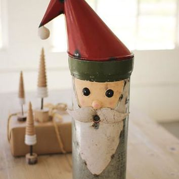 Recycled Military Canister Santa - Large
