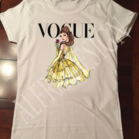Disney Princess Belle Vogue Inspired T-Shirt