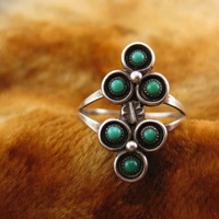 Ring  Size 7 3/4  Sterling Silver  Zuni  by Worldwideoddities