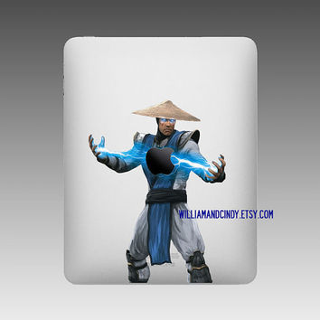 Ipad 2 Decal - Raiden Mortal Kombat