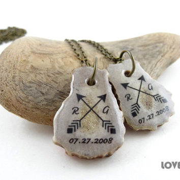 Best Friend Jewelry Friendship Necklace Set Couples Necklace Best Friend Gift Friend Symbol Arrow Long distance Friendship Jewelry